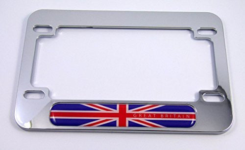 Great Britain flag Motorcycle Bike ABS Chrome Plated License Plate Frame England