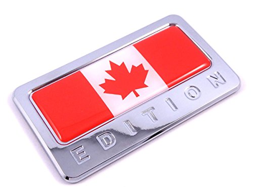 Canada Edition Chrome Emblem Canadian Flag 3D Decal Car Bike Badge