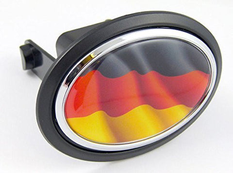 "GERMANY Germany Deutschland Flag Hitch Cover cap 2"" receiver black with chrome & dome"
