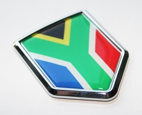 South Africa Flag Decal Car Chrome Emblem Sticker