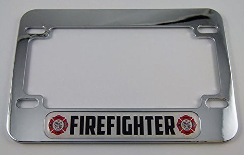 Firefighter Motorcycle Bike ABS Chrome Plated License Plate Frame