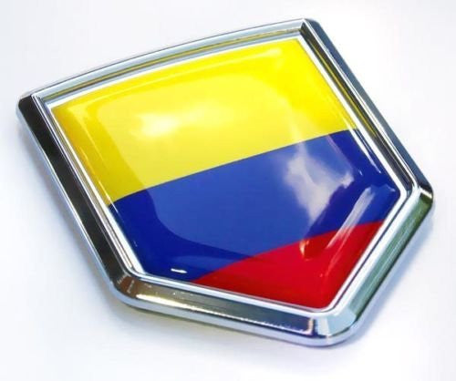 Car Chrome Decals CBSHD046 Colombia Flag Colombian Emblem Chrome Car Decal Sticker