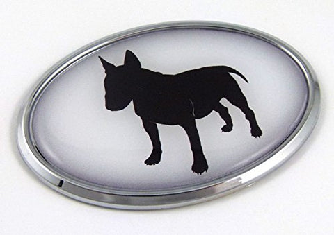 Bull Terrier Dog Breeds 3D Chrome Emblem Pet Decal Car Auto Bike Truck Sticker