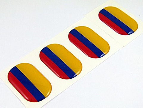"Colombia midi domed decals flag 4 emblems 1.5"" Car bike laptop stickers"