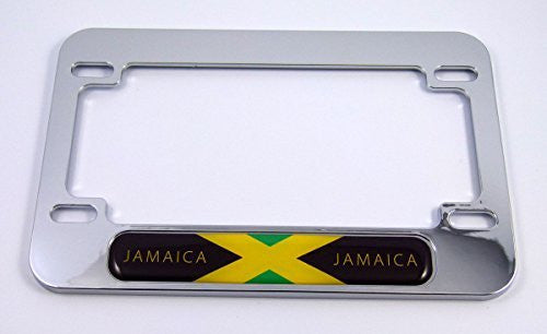 Jamaica Jamaican flag Motorcycle Bike ABS Chrome Plated License Plate Frame