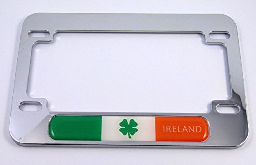 Ireland Irish flag Motorcycle Bike ABS Chrome Plated License Plate Frame