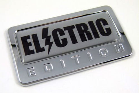 Car Chrome Decals CBEDI-ELECTR Electric custom Edition Chrome Emblem with domed decal Car Auto Bike Badge