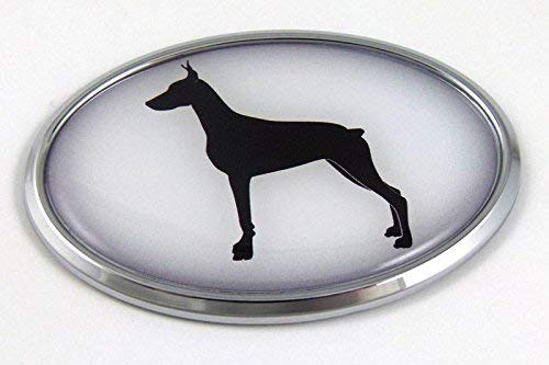 Doberman Dog Breeds 3D Chrome Emblem Pet Decal Car Auto Bike Truck Sticker