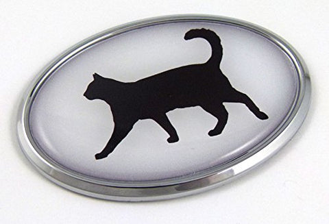 Cat 3D Chrome Emblem Pet Decal Car Auto Bike Truck Sticker