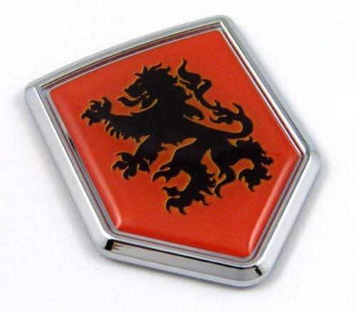 Car Chrome Decals CBSHD251 Holland Netherlands Dutch Orange Flag Car Auto Chrome Emblem 3D Decal Sticker