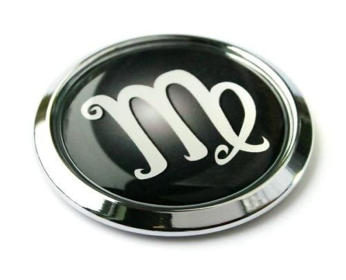 VIrgo Zodiac Symbol Chrome Emblem Car bike decal badge 3D Sticker