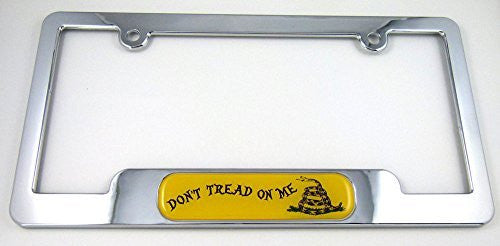 Don't Tread On MeChrome plated ABS License Plate Frame holder cover with free caps