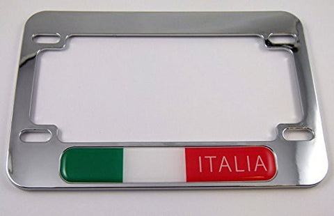 Italia Italy Motorcycle Bike ABS Chrome Plated License Plate Frame ...
