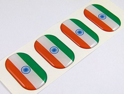"India midi Indian domed decals flag 4 emblems 1.5"" Car bike stickers"