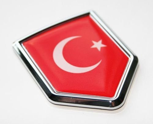 Turkey Turkish Flag Decal Car Chrome Emblem Sticker 3D
