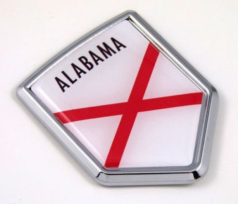 Alabama AL USA State Flag Car Chrome Emblem Decal Sticker bike laptop boat 3dd Sticker badge