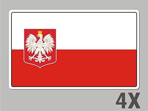 4 Poland polski stickers flag decal bumper car bike laptop .. emblem vinyl FL049
