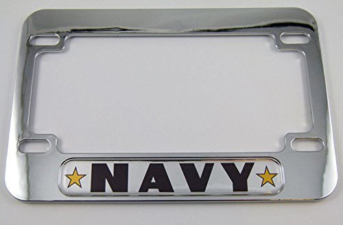 NAVY Army USA Motorcycle Bike ABS Chrome Plated License Plate Frame