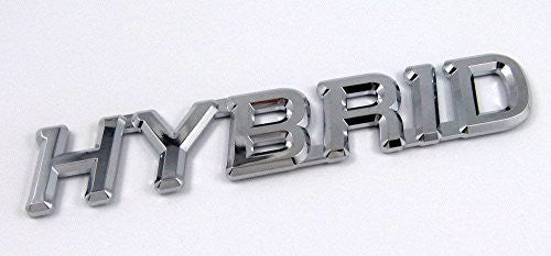 HYBRID Chrome Emblem Car Auto Decal Bumper 5.5""