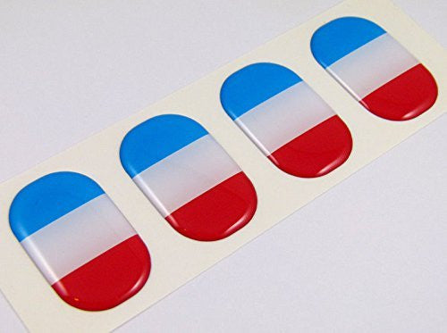 "France midi domed decals flag 4 emblems 1.5"" Car bike stickers"