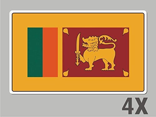 4 Sri Lanka stickers flag decal bumper car bike emblem vinyl FL060