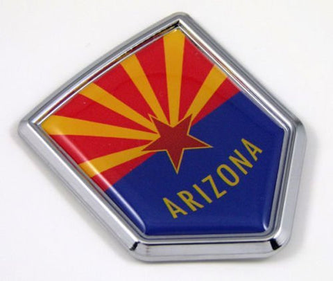 Arizona AZ USA State Flag Car Chrome Emblem Decal Sticker bike laptop boat 3dd Sticker badge