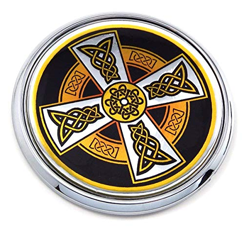 "Celtic Flag 2.75"" Car Chrome Round Emblem Decal 3D Sticker Badge DC1"