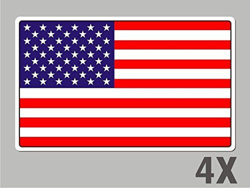 4 USA Unites States of America stickers flag decal car bike emblem vinyl FL069