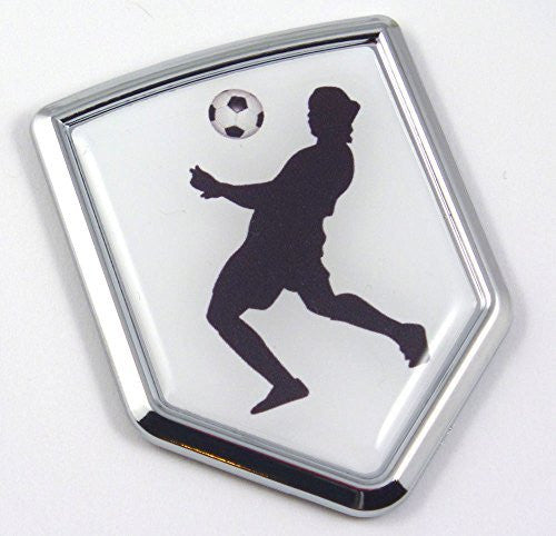Soccer player Chrome Emblem 3D Decal Sticker Car sport emblem