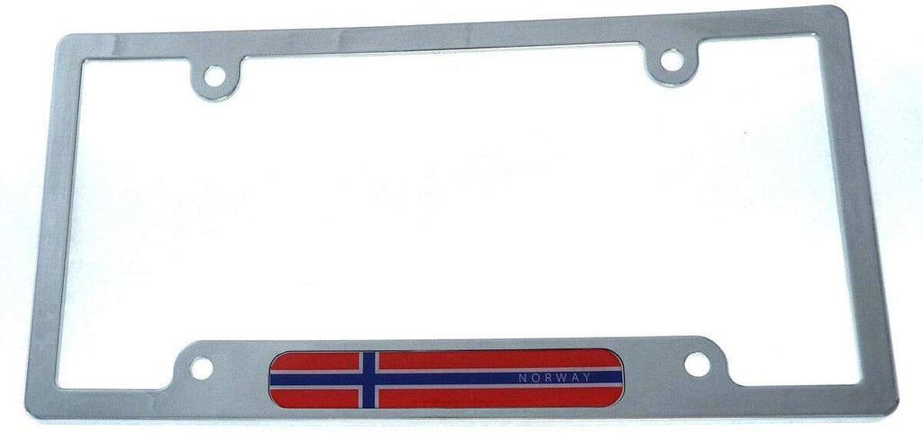 Norway Flag car License Plate Frame Chrome Plated Plastic tag Holder Cover CP08