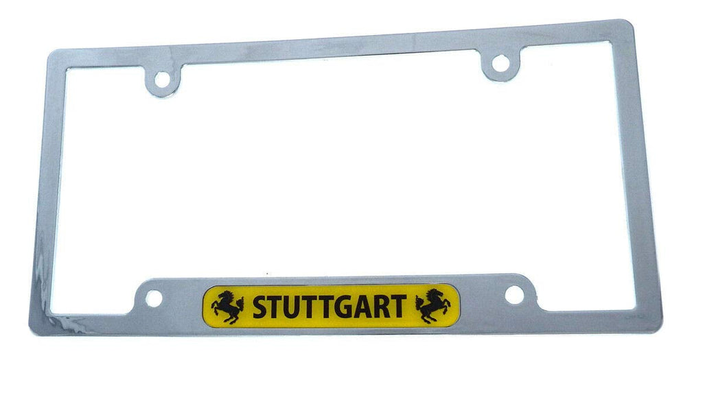 Stuttgart Flag car License Plate Frame Chrome Plated Plastic tag Holder CP08