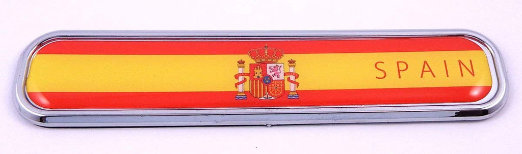 Spain Spanish Flag Chrome Emblem 3D auto Decal Sticker car Bike Boat 5.3""