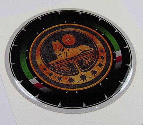 "Chechnya Round 3.2"" crest Chechen lone Wolf Emblem domed decal Bike Car"