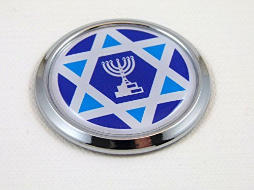 Israel Round Decal Flag Car Chrome Emblem Sticker bumper badge 3D