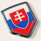 Slovakia Decal Flag Car Chrome Emblem Sticker 3D badge car auto bike
