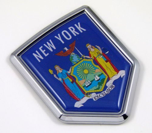 New York NY USA State Flag Car Chrome Emblem Decal Sticker bike laptop boat 3dd Sticker badge