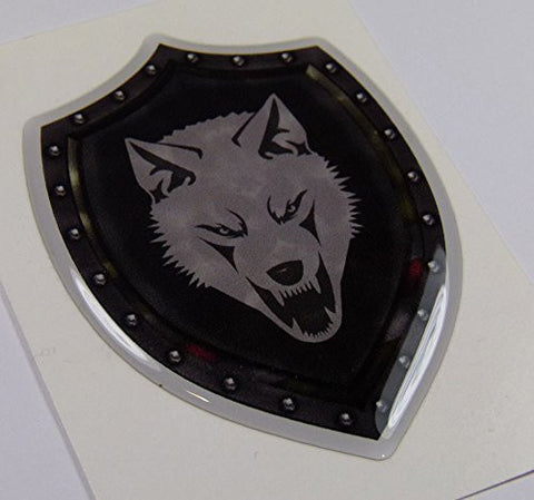 "Chechnya Shield Style 3.2"" crest Chechen lone Wolf Emblem domed decal Bike Car"