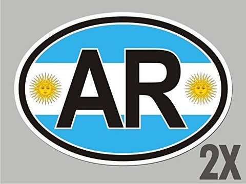 Argentina oval sticker