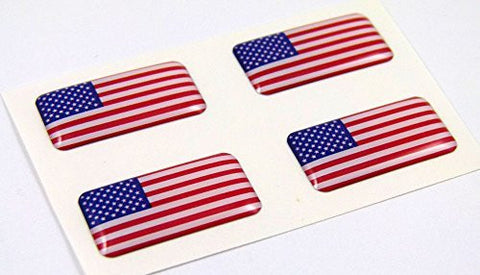USA American mini domed Flag decals 4 emblems Car auto bike boat. stickers