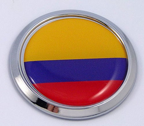 Colombia Colombian Round Flag Car Chrome Decal Emblem bumper Sticker bezel badge