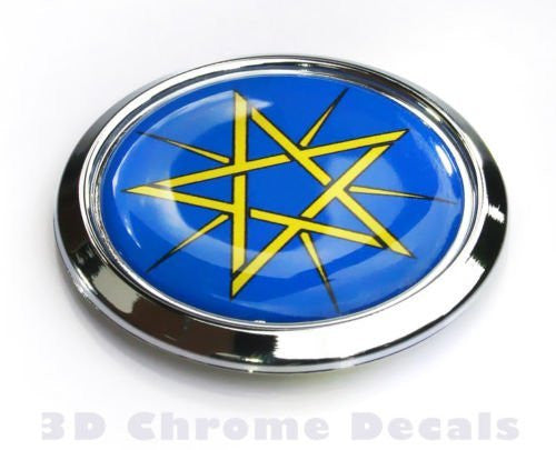 Ethiopia Decal Flag Car Chrome Emblem Bumper Sticker 3D
