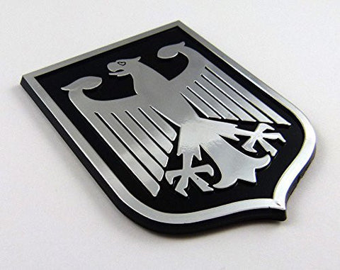Deutschland Germany Black Chrome plastic car emblem decal sticker crest GBC