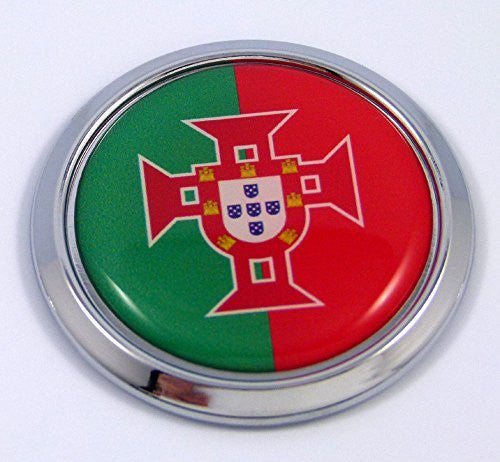 Portugal Portugues Round Flag Car Chrome Decal Emblem bumper Sticker bezel badge