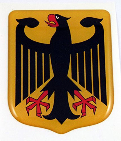 Car Chrome Decals DDCUS-GERMEAGLE German Eagle shield Emblem domed decal Bike Car sticker Deutschland Germany