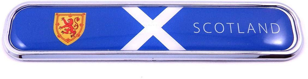 Scotland Scottish Flag Chrome Emblem 3D auto Decal car Bike Boat 5.3""