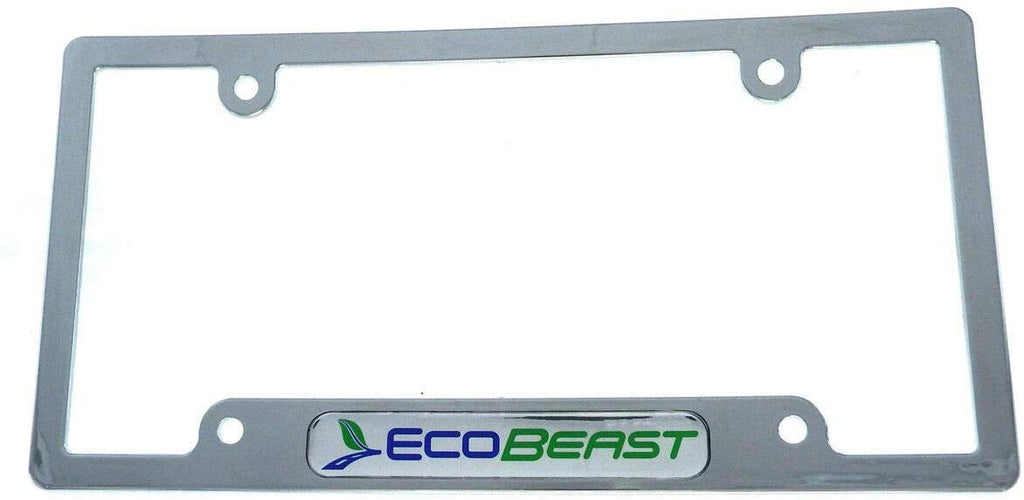 Ecobeast eco Beast car License Plate Frame Plastic Chrome Plated CP08