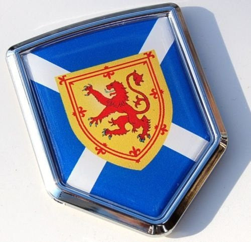 Car Chrome Decals CBSHD252B Scotland Decal Scottish Flag Car Chrome Emblem Sticker