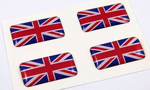 Great Britain mini domed decals set 4 emblems British Car bike boat... stickers