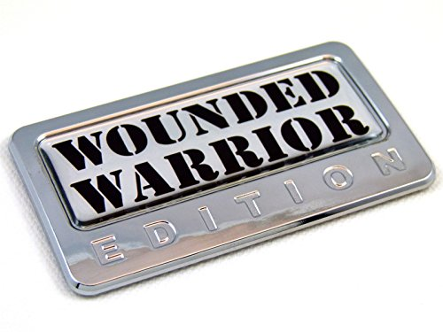 Wounded Warrior Edition Chrome Emblem with Domed Decal Car Auto Badge 3D Sticker