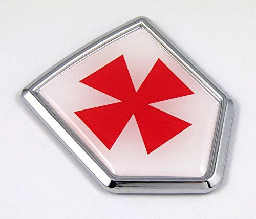 Swedish Rite Mason Frimurer Kors flag Emblem Chrome Car Decal st George cross